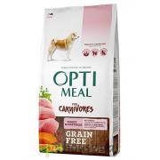 Optimeal полнорационный сухой корм для взрослых собак всех пород с индейкой и овощами (целый мешок 10 кг)
