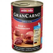 Gran Carno Junior с говядиной и сердцем индейки для щенков, 400 г