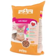 Club 4 paws сухой корм для взрослых кошек с мясом (целый мешок 11 кг)