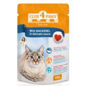 Club 4 Paws с макрелью в деликатном соусе