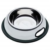 Ferplast NOVA KC 72 миска из нержавеющей стали для кошек и собак с антискользящим покрытием, 0,5 л