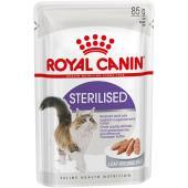 Royal Canin Sterilised влажный корм для стерилизованных кошек в паштете, 85 г