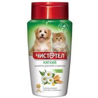 Чистотел мягкий шампунь для котят и щенков с пшеницей и ромашкой, 220 мл