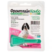 Фронтлайн Комбо раствор для наружного применения против вшей, блох, власоедов и клещей для собак массой от 20 до 40 кг 2,68 мл