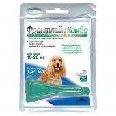 Фронтлайн Комбо раствор для наружного применения против вшей, блох, власоедов и клещей для собак массой от 10 до 20 кг 1,34 мл