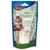 Trixie Chicken Tenders лакомство для кошек 100% отварная куриная грудка