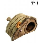 Домик-мышка для кошек и мелких собак, 45×25×30 см