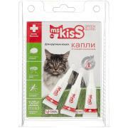 Ms. Kiss капли от клещей и насекомых для крупных кошек весом более 2 кг, 1 пипетка