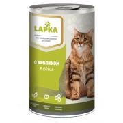 Lapka влажные консервы для кошек с кроликом, 415 г