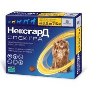 Нексгард Спектра жевательная таблетка для собак весом от 3,5 до 7,5 кг, 1 шт