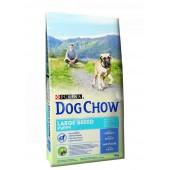 Dog Chow корм для щенков крупных пород до 2 лет с индейкой (целый мешок 14 кг)