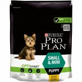 Pro Plan Small&Mini Puppy для щенков мелких и карликовых пород с курицей 700 г