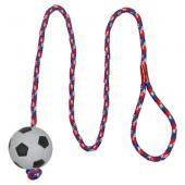 Trixie игрушка для собак футбольный мяч на веревке, Ø6/100 см