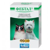 Фебтал универсальный антигельминтик для собак и кошек, 6 таб.