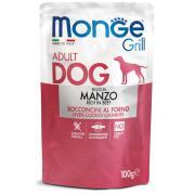 Monge Grill Adult Rich in Beef полнорационный корм для взрослых собак, с запеченными кусочками на основе говядины, супер премиум качества 100 гр