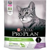 Pro Plan Sterilised cухой корм для стерилизованных кошек и кастрированных котов с индейкой 400 г