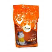 Van Cat комкующийся наполнитель с ароматом апельсина, 10 кг