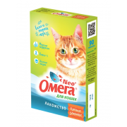 """Омега Neo """"Крепкое здоровье"""" витамины-лакомство с морскими водорослями для кошек, 90 таб."""