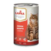 Lapka влажные консервы для кошек с говядиной, 415 г