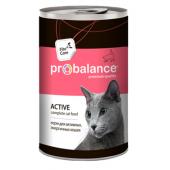 Pro Balance Active влажные консервы для активных и энергичных кошек, 415 г