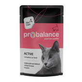 Pro Balance Active влажный корм для активных  и энергичных кошек, 85 г