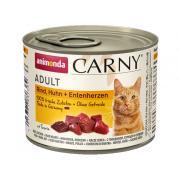 Carny Adult консервы с индейкой, курицей и сердцем утки, 200 г