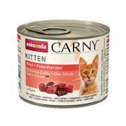 Carny Kitten консервы с говядиной и сердцем индейки для котят 200 гр