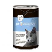 Pro Balance Sterilized влажные консервы для кастрированных котов и стерилизованных кошек, 415 г