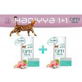 Акция! OptiMeal сухой корм для стерилизованных кошек и кастрированных котов с индейкой 1+1