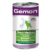 Gemon Adult Medium Lamb & Rise полнорационный корм с кусочками ягненка с рисом, для взрослых собак средних пород, высокого премиального класса 1250 гр