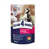 Club 4 paws для щенков всех пород с курицей