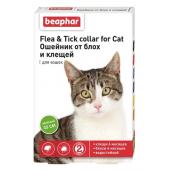 Beaphar Flea & Tick ошейник от блох и клещей для кошек, зелёный, 35 см, 1 шт