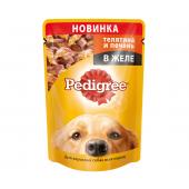Pedigree для взрослых собак всех пород с телятиной и печенью в желе, 85 г