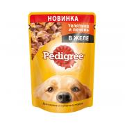 Pedigree для взрослых собак всех пород с телятиной и печенью в желе, 100 г