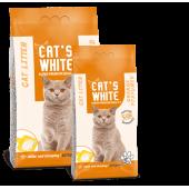 Cat's White комкующийся наполнитель с ароматом апельсина, 5 кг