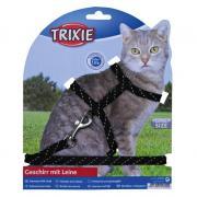 Trixie шлейка с поводком - светоотражающие, 18-35см / 10мм