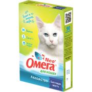 """Омега Neo """"Блестящая шерсть"""" витамины-лакомство с биотином, таурином и морепродуктами для кошек, 90 таб."""