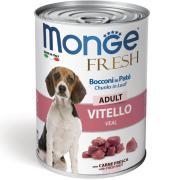 Monge Fresh Adult Loaf with Veal паштет с говядиной для взрослых собак, супер премиум качества 400 гр