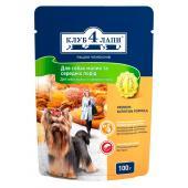 Club 4 paws для взрослых собак малых и средних пород с мясом