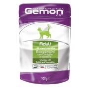 Gemon Adult Rabbit and Vegetables полнорационный корм для взрослых кошек, с кусочками кролика и овощами, высокого премиального качества 100 гр