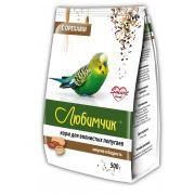 Любимчик корм для волнистых попугаев энергия и бодрость с орехами, 500 г