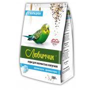 Любимчик корм для волнистых попугаев крепкие кости и красивые перья с кальцием, 500 г