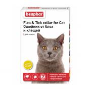 Beaphar Flea & Tick ошейник от блох и клещей для кошек, желтый, 35 см,1 шт