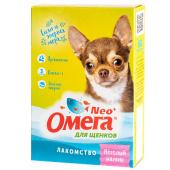 """Омега Neo """"Весёлый малыш"""" витамины-лакомство с пребиотиком и  морепродуктами для щенков, 60 таб."""