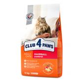 Club 4 paws сухой корм для взрослых кошек мясные крокеты с эффектом выведения шерсти (на развес)