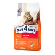 Club 4 paws сухой корм для взрослых кошек мясные крокеты с эффектом выведения шерсти (целый мешок 14 кг)