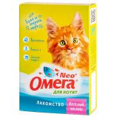 """Омега Neo """"Весёлый малыш"""" витамины-лакомство с пребиотиком, таурином и морепродуктами для котят, 60 таб."""