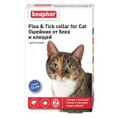 Beaphar Flea & Tick ошейник от блох и клещей для кошек, синий, 35 см, 1 шт