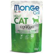 Monge Grill Adult Rich in Rabbit полнорационный корм для взрослых кошек, с кусочками итальянского кролика в желе, премиум качества 85 гр