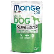 Monge Grill Adult Rich in Lamb полнорационный корм для взрослых собак, с запеченными кусочками на основе ягненка с овощами, супер премиум качества 100 гр